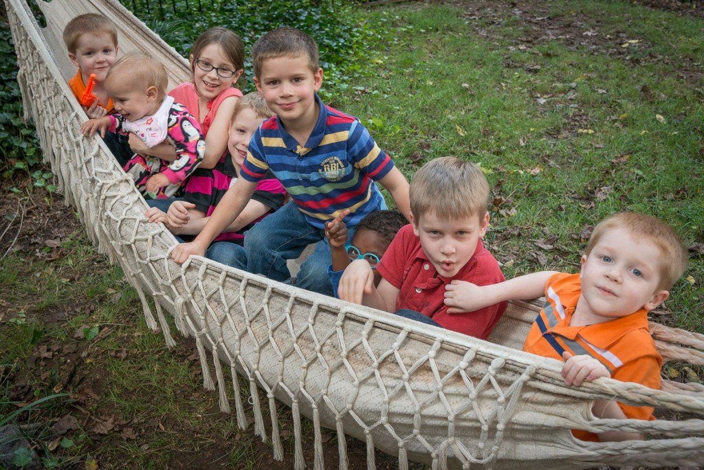 We had lots of fun with our friends in SC--they even let us squeeze everyone into a very full hammock in the yard. Everyone had great fun.