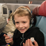 What would a flight on Turkish Airlines be without Turkish Delight? They offered little pieces of it to everyone on the plane on both flights. The kids gave theirs to Dale--and he was happy.