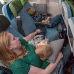 We made the best of the situation, allowing the kids to sprawl out however they needed to so that they could sleep. That often meant that Miranda and Karla ended up as extra seat-cushions for Beast and Nightcrawler.