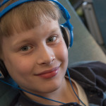 Cyclops loved almost everything about being on the flight--he especially enjoyed the in-flight meals and movies, as well as the kid-oriented goodie bags.