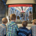 In Zurich, we had to take an underground train from the terminal to the baggage claim area. All of the boys enjoyed watching the next car, and the tunnel whizzing by as we went. They also enjoyed the yodeling and cowbells on the intercom.