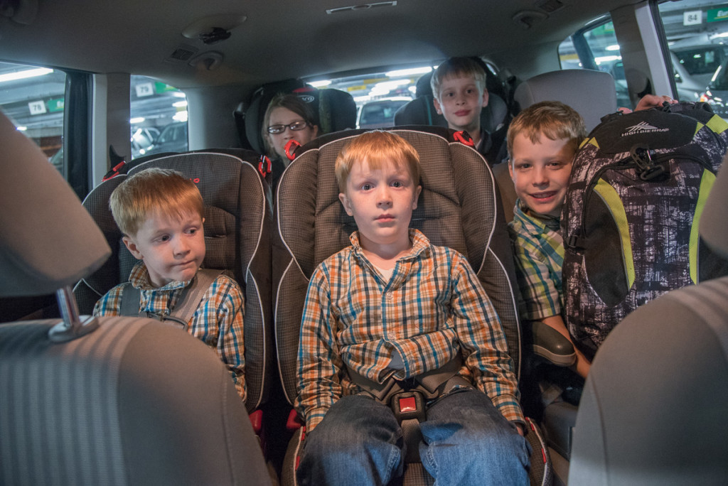 This was a Seat Alhambra, commonly referred to as a 5+2 seater--not really designed for 7 people all the time, and with limited cargo space if you use the last two seats in the back. We did. And we fit, but barely.
